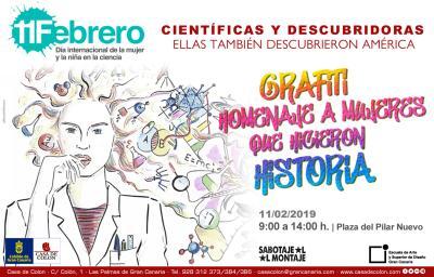 Científicas y descubridoras Casa de Colón 11F Flyer