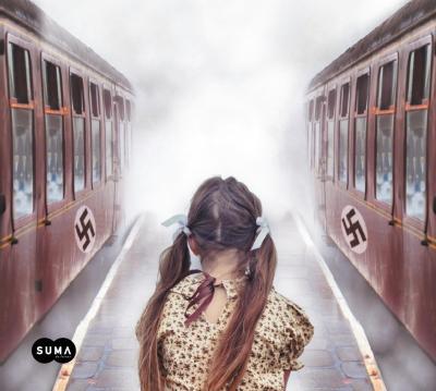 Libro La niña que miraba los trenes partir portada recortada